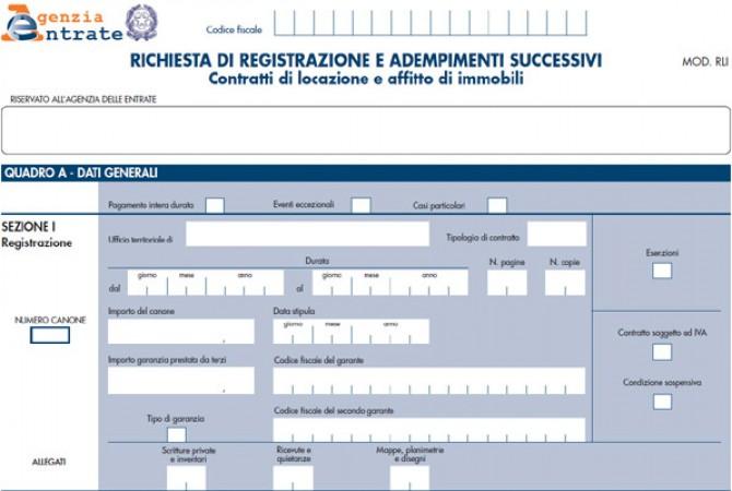 Pagamento contratto di locazione top canone di locazione for Disdetta contratto comodato d uso gratuito agenzia entrate